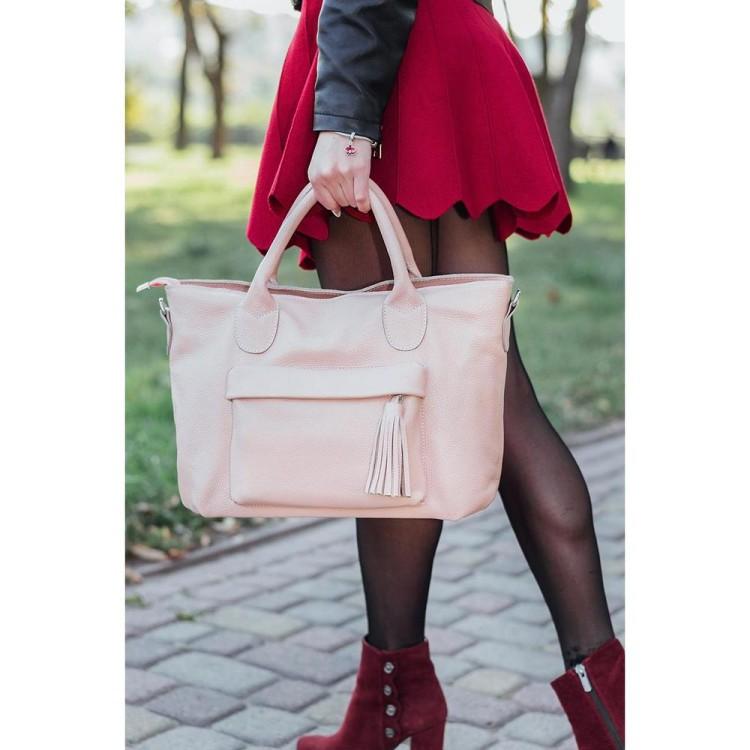 Жіноча сумка BagTop BTJS-26 · Модель кольору пудри BagTop 397596b98aeee