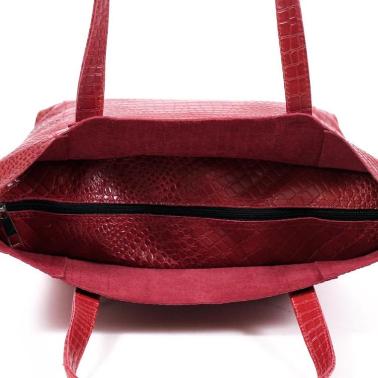 Сумка з натуральної шкіри червоного кольору BagTop 4f6c46d49cee5