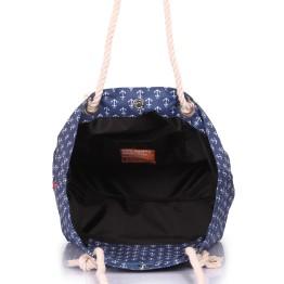 Пляжная сумка Poolparty anchor-darkblue