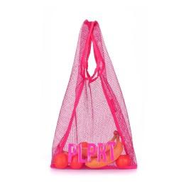 Хозяйственная сумка Poolparty plprt-mesh-tote-pink